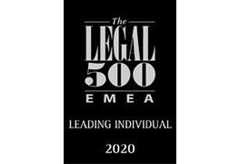 Legal 500 EMEA Leading Individual 2020