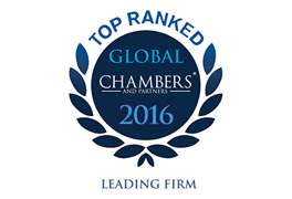 Global Chambers Top Ranked Firm 2016