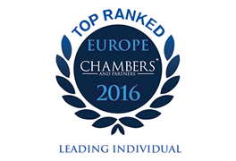 Europe Chambers Top Ranked Individual 2016
